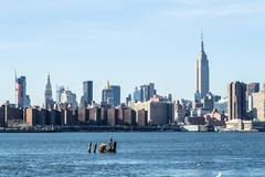 Midtown from Brooklyn - stock photo