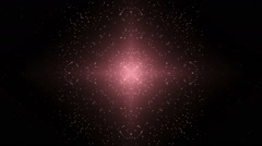 Fractal disco red background. - stock footage
