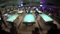 TIME LAPSE IN POOL HALL Stock Footage