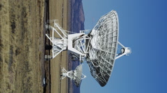 Large Radio Telescopes searching for signals from Space - stock footage