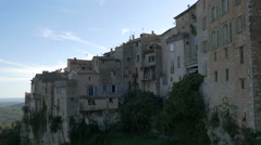 Old houses in the hill town of Tourrettes-sur-Loup Stock Footage