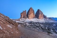 Tre Cime. Dolomite Alps, Italy - stock photo