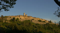 Tourrettes-sur-Loup seen at sunset Stock Footage