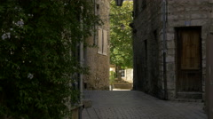 Old paved street with stone houses in Vence, France Stock Footage