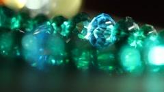 Stone jewellery Stock Footage