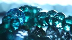 Stone jewellery Macro shot Stock Footage