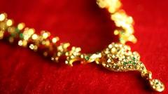 Gold jewellery Stock Footage