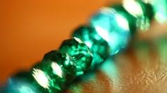 Stone jewellery macro shot. Stock Footage