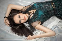 Luxury young woman Stock Photos