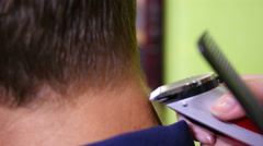 Cutting hairs - hairdo for man Stock Footage