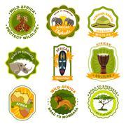 Africa Emblems Set Piirros