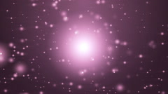 Space pink background with particles. - stock footage
