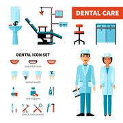 Dentist Design Concept - stock illustration