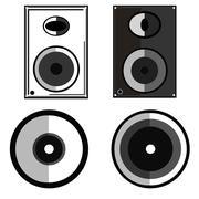 Speaker illustration Stock Illustration