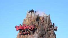 Rainforest cafe volcano. Stock Footage