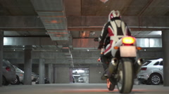 A man driving  sport motorcycle Stock Footage