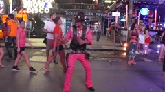 Street Act on Bangla Road Nightlife, Phuket - stock footage