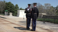 Arlington National Cemetery Guard of Honor inspection 3 HD 019 Stock Footage