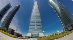 Skyscrapers timelapse hyperlapse in the Four Towers Business Area with the Stock Footage