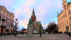 Square in the old town of Stockholm rr - stock footage