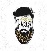 Real men have a beard template design Stock Illustration