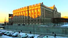 Parliament House - Riksdagshuset, Stockholm Stock Footage