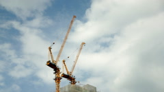 Construction Site , Time lapse in HD 1920 x 1080 - stock footage