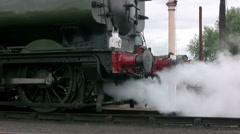 Pannier tank steam engine 3650 at Didcot Stock Footage