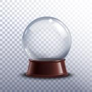 Snow globe transparent Stock Illustration