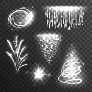 Light effects white set Stock Illustration