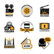 Stock Illustration of Cinema And Film Labels