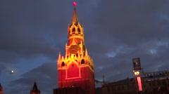 Spasskaya tower of Kremlin, Moscow Stock Footage