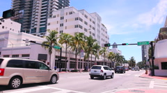 Timelapse video. Miami Beach, Collins Avenue Stock Footage