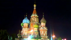 Saint Basil's cathedral, Moscow - stock footage