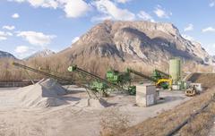 Gravel extraction plant. - stock photo