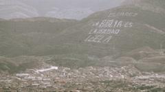 Juarez Mexico Hillside - stock footage