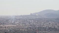 Panoramic Juarez, Mexico - stock footage