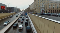Big Garden street in Moscow, Russia Stock Footage