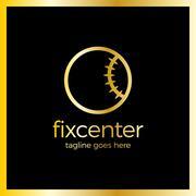 Fix Repair Center Logo Stock Illustration