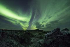 Aurora borealis (Northern lights) Stock Photos