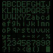 LED light Alphabet Stock Illustration