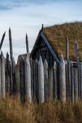 Viking village ruins in Iceland Stock Photos