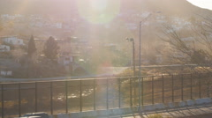 Looking Across the Rio Grand Mexican Border Stock Footage