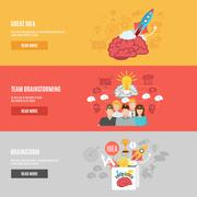 Brainstorm Banners Set Stock Illustration