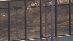 Rio Grande River through Border Fence Stock Footage