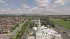 Aerial shot Baitul Islam Mosque in a sunny day - stock footage