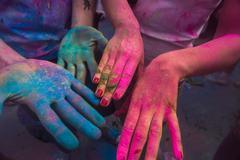 Holi festival color explosion - stock photo
