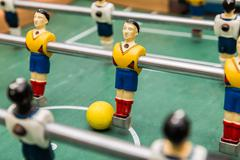 Classic aged Foosball table - stock photo