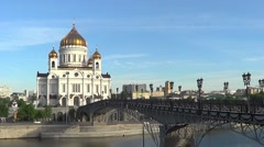 Cathedral of Jesus Christ Saviour, Moscow - stock footage