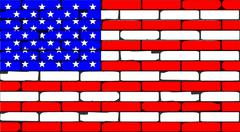 Stars And Stripes Wall Stock Illustration
